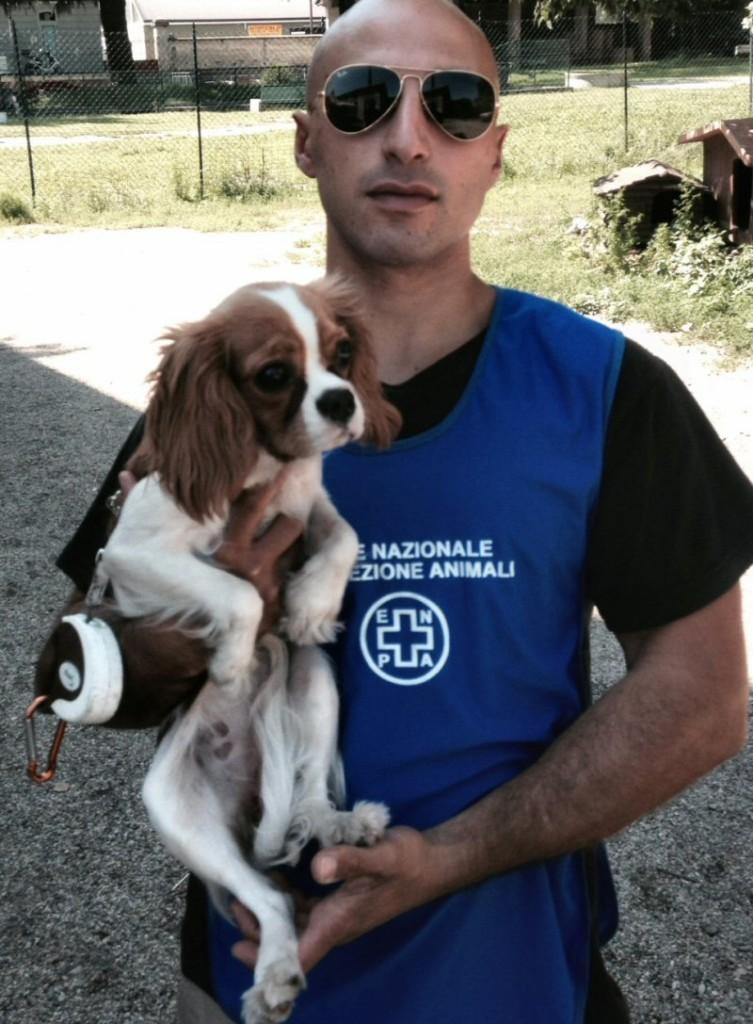 NS cane Silvio con volontario