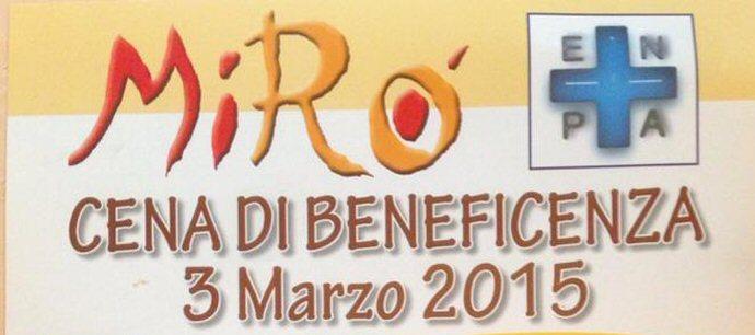 Cena di beneficenza il 3 marzo