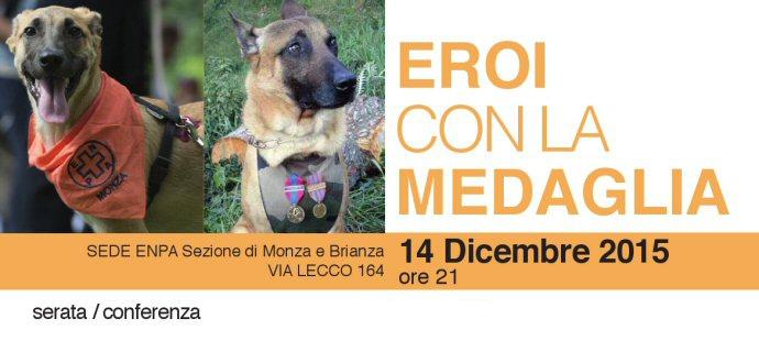 Una serata dedicata ai cani eroi, lunedì 14 dicembre