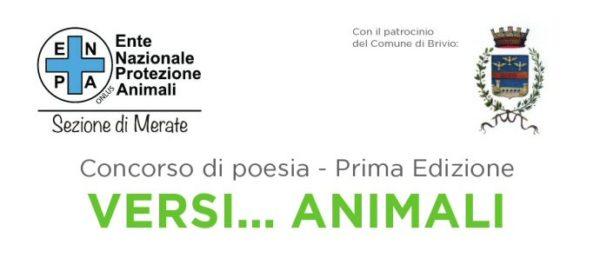 """""""Versi … Animali"""": concorso di poesia organizzato da ENPA Merate."""