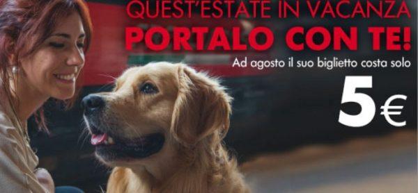 Trenitalia contro gli abbandoni: porta il tuo cane con te a soli 5€!